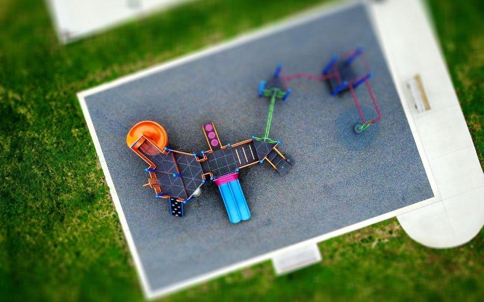 Aerial View of Turf Playground