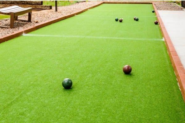 Fake Grass Bocce Ball Court
