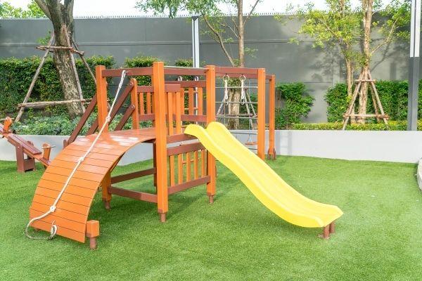 Fake Turf Playground